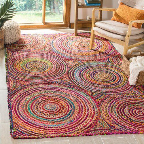 World Menagerie Bowen Geometric Handmade Flatweave Jut Sisal Cotton Red Multi Area Rug Reviews Way Braided Rag Rugs On Carpet