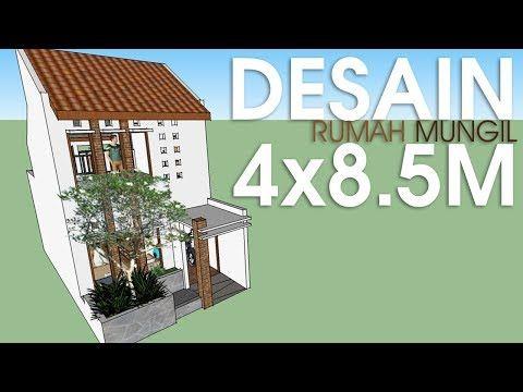 Contoh Desain Rumah Minimalis Ukuran 4x14 Cek Bahan Bangunan