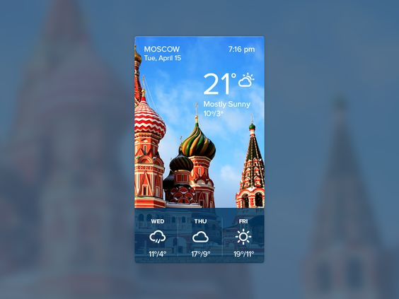 Weather widget by Eldar Burnashev