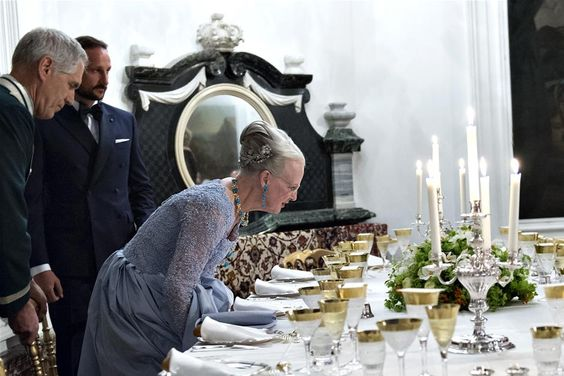 Dinner at Christiansborg Palace - Queen Margrethe's 75th birthday