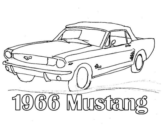 1966 mustang coloring pages