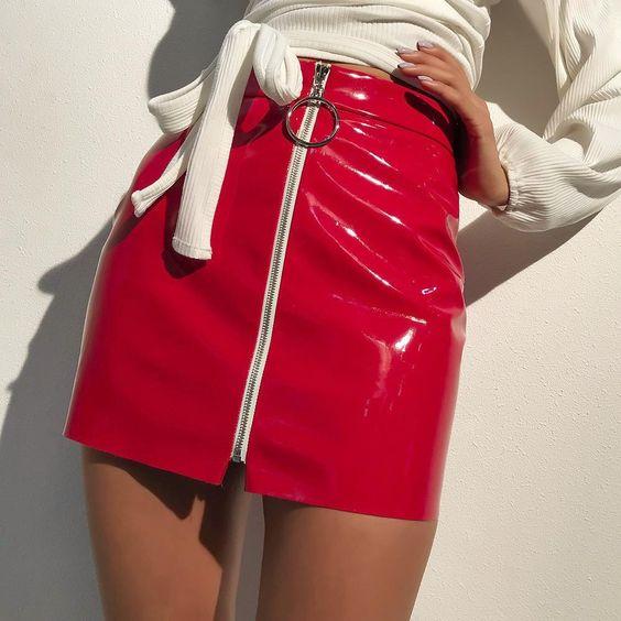 Vinyl Pencil Skirt