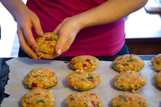 chickpea veggie burgers 3164   How To Prep and Freeze Veggie Burgers: A Tutorial
