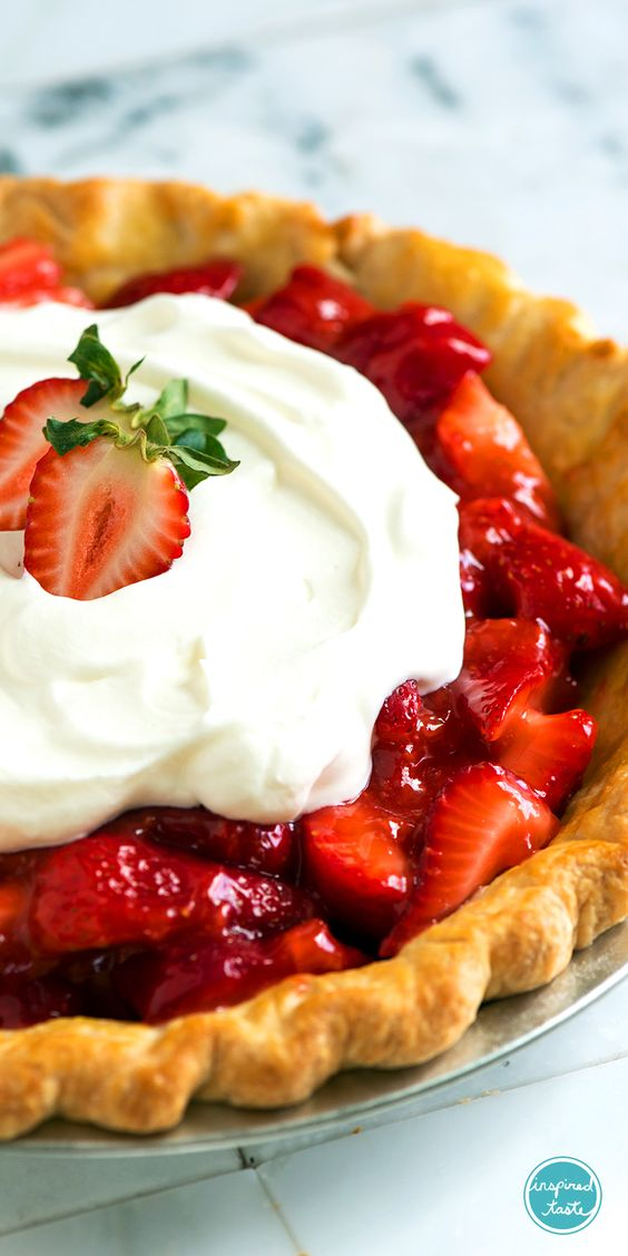 Fresh Strawberry Pie recipe with fresh, sweet strawberries coated in a ...