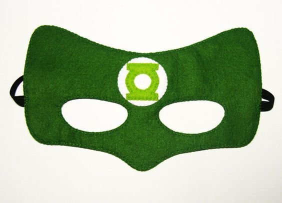 Green Lantern Superhero mask 2 years adult size by FeltFamily