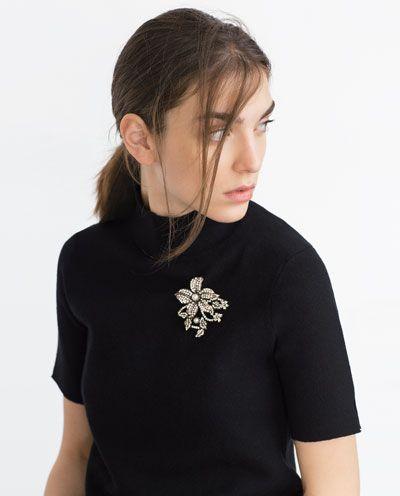 Imagem 2 de FLORAL BROOCH da Zara: