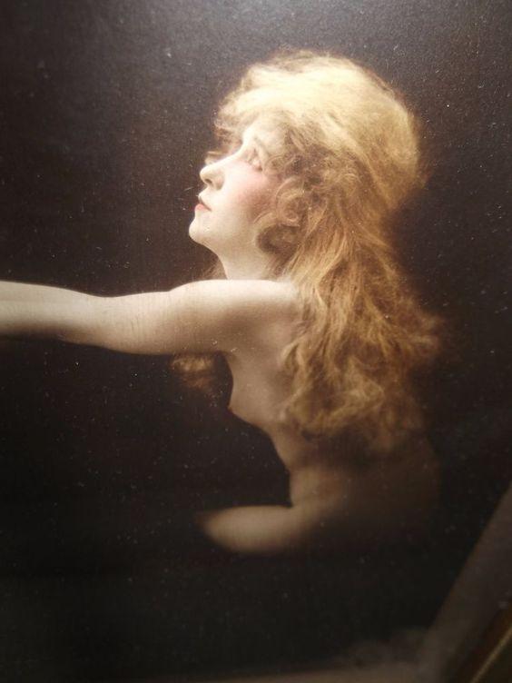 ORIGINAL 1915 CHARLES  WESLEY  GILHOUSEN SIGNED NUDE PHOTO FRAMED  #ArtNouveau