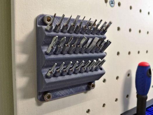Screwdriverbitwallmountbysakes Printersandaccessories Printers And Accessories 3d Drucker Projekte 3d Drucker 3d Drucker Vorlagen