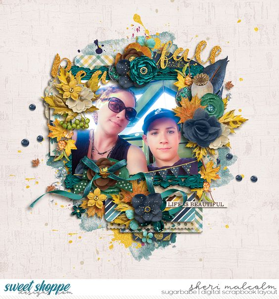 Digital scrapbook page by SeattleSheri using *FREE with your $10 Purchase* Beautifall by Amber Shaw & Studio Flergs