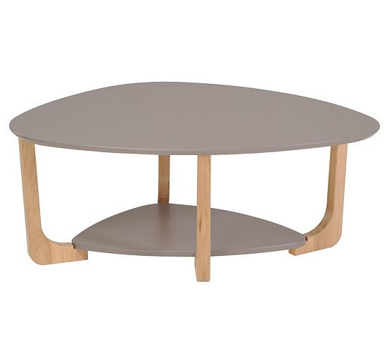 Taupe and tables on pinterest - Table basse ovale blanche ...