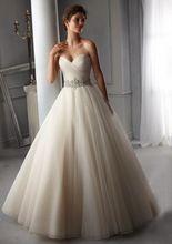 ** 熱銷 Noiva 2016年新設計完美腰帶長袍白色婚紗