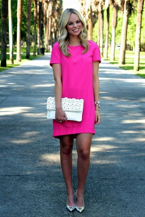 What color shoes to wear with a fuchsia dress