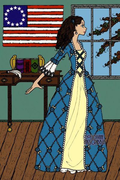 Elizabeth Schuyler Hamilton by LadySky ~ Erté Elegance Fashion Dress Up