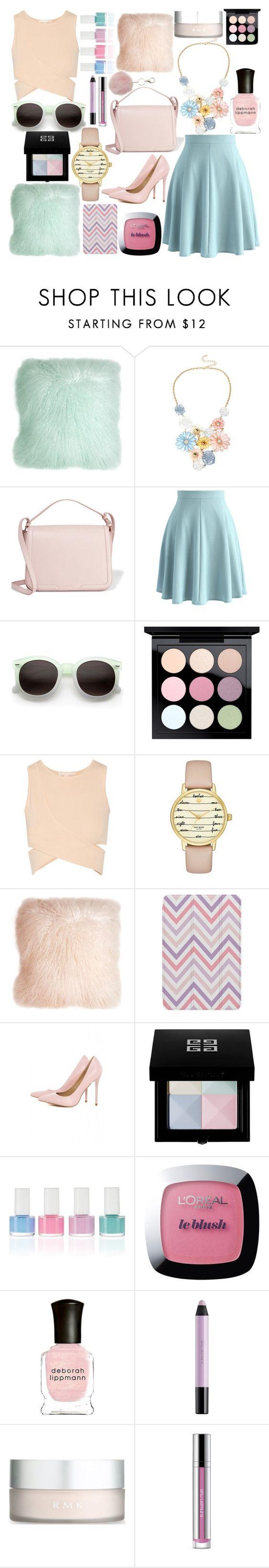"""pastel"" by chantal-07 ❤ liked on Polyvore featuring Pillow Decor, Mixit, Dolce&Gabbana, Chicwish, ZeroUV, MAC Cosmetics, Jonathan Simkhai, Kate Spade, Agent 18 and AX Paris"