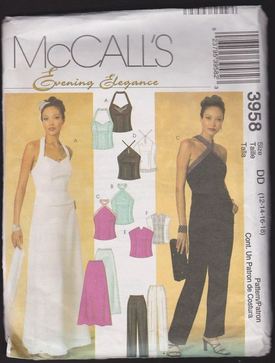 McCall's 3958 Evening Elegance Misses' by OutoftheConex on Etsy