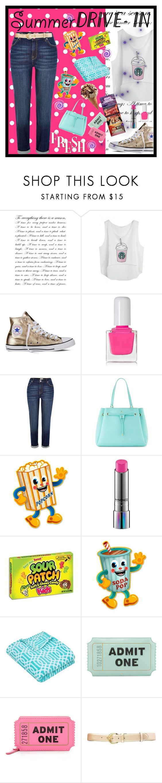 """Drive-in"" by fashion-holy ❤ liked on Polyvore featuring Converse, tenoverten, River Island, Kate Spade, MAC Cosmetics and Lauren Ralph Lauren"