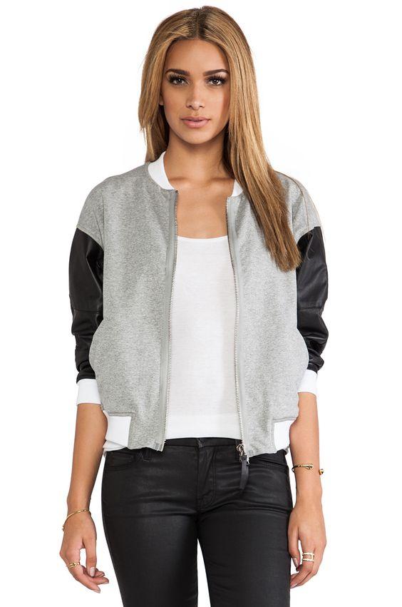 BROGDEN Bomber Jacket in Black & White - Coisas para comprar ...