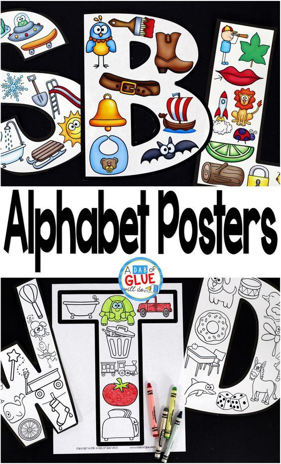 alphabet posters alphabet and poster on pinterest. Black Bedroom Furniture Sets. Home Design Ideas