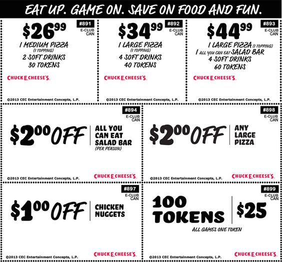 @Chuck E. Cheese coupons. Click the pic to get the deal!