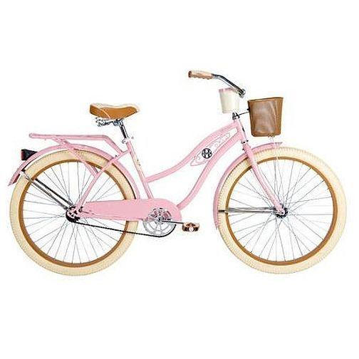 Beach Cruiser Bike Blue Basket Girls Vintage Road Cruising Bicycle