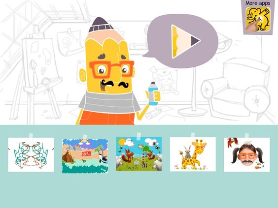 Draw With Us! Stickers, Photos, Pencils and Fun for Kids is a Clever Preschool Creativity Suite