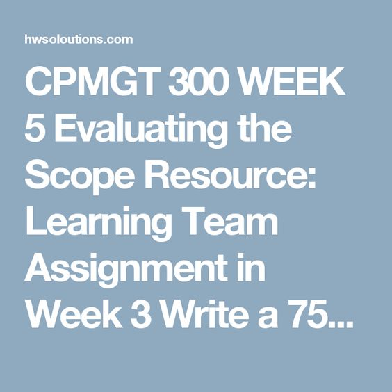 Cpmgt  Week  Collecting Requirements Resource Individual