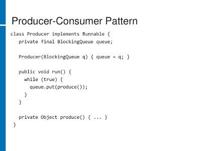 Producer Consumer Solution Using Blockingqueue In Java With