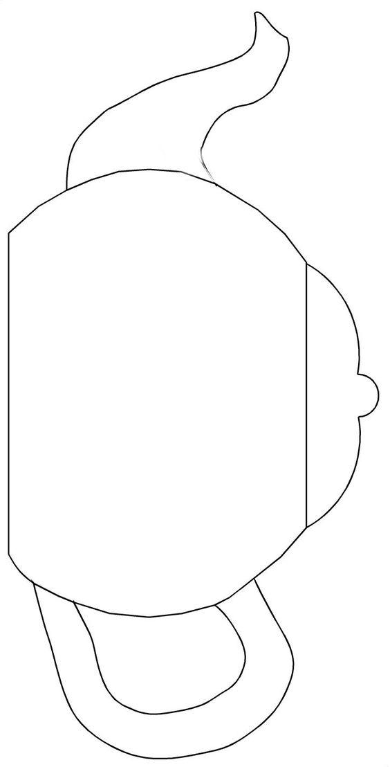 teapot templates free printable | Cut the teapot, handle and spout ...
