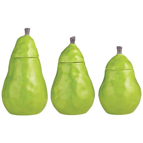 Found it at Wayfair - 3 Piece Pear Canister Set