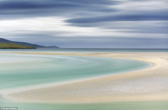 Curves, Luskentyre, on the Isle of Harris, Scotland, shot by Robert Birkby...