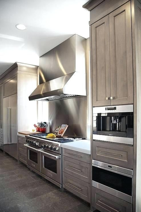Elegant Grey Washed Cabinets Wash Kitchen Gray With White Quartz Counters Stained Kitchen Cabinets Contemporary Kitchen Kitchen Design