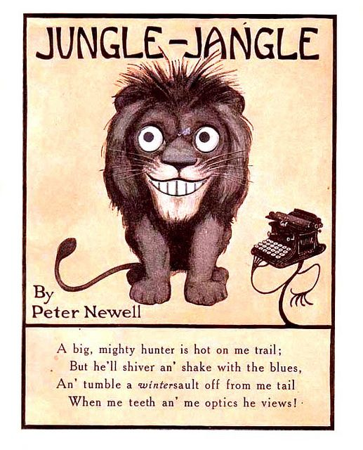 """Jungle Jangle"" - Lion - Peter Newell, New York: Harper, 1909.:"