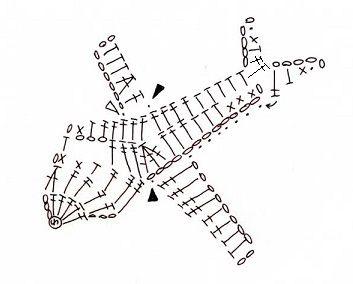 飛行機のモチーフ(編み図付き・ジャンボジェット機) : Crochet a little