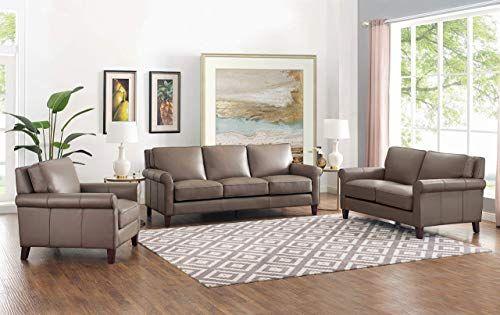 Amazing Offer On Hydeline Laguna 100 Leather Sofa Set Sofa Loveseat Chair Taupe Online Alltoclothing In 2020 Leather Sofa Set Leather Sofa Sofa Set