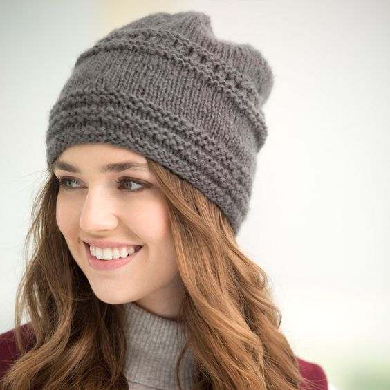 Lion Brand Vanna's Complement Trivoli Slouch Hat - Perfect slouchy hat - beanie