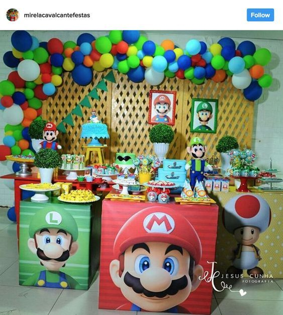 Decoracion De Fiesta De Mario Bros Baby Guía Para Su Decoración Hoy Aprenderás Las Mejores Ideas Mario Bros Party Super Mario Bros Party Mario Bros Birthday