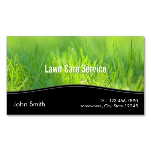 stylish spring green lawn care business card i love this
