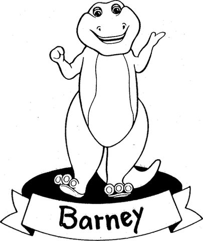 The original Barney logo