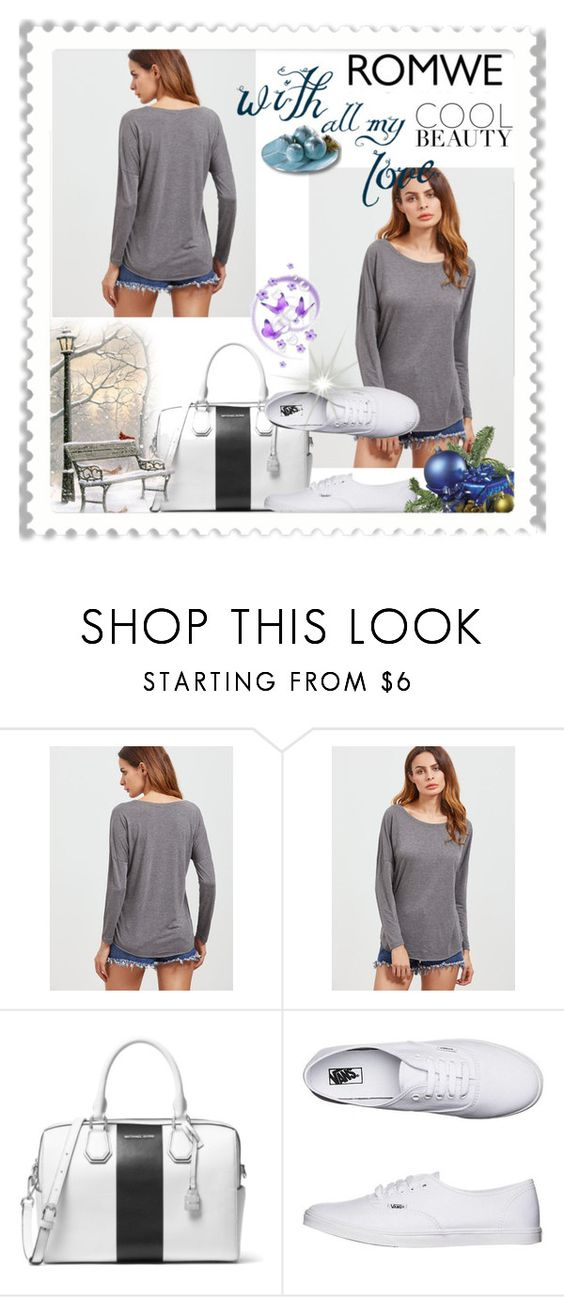 """""""romwe"""" by anitaa-2 ❤ liked on Polyvore featuring MICHAEL Michael Kors and Vans"""