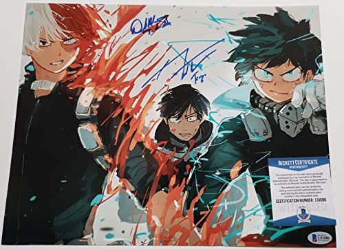 David Matranga J Michael Tatum Autographed 11x17 Photograph My Hero Academia Shoto Todoroki Tenya Iida Beckett Https Toys Bo Hero Wallpaper My Hero Anime