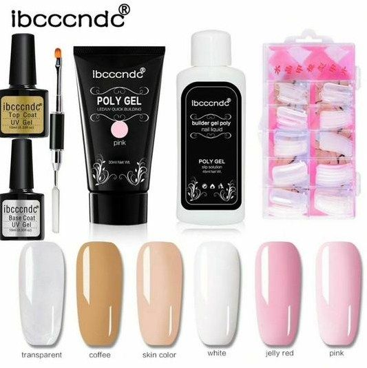 Buy Acrylic Poly Gel Nails Kit With Slip Solution In Uk Gel Nail Kit Gel Nails Nail Polish