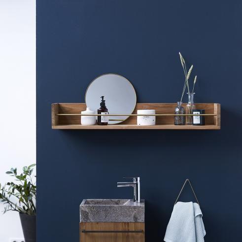Sasha Teak Bathroom Shelf 100 In 2020 Teak Bathroom Bathroom Wall Shelves Raw Wood Furniture