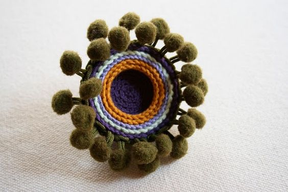 crochet brooch
