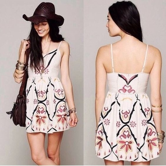 Free People Embroidered Dress Free People Embroidered Dress. The sweetest dress ever! Such a beautiful piece that you don't need much more than a pair of booties or flats to go with it!  Original asking = $90 Free People Dresses