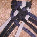 Trança oito cordas em uma trança plana