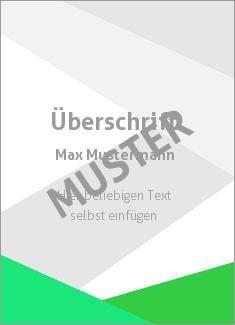 Muster Zertifikat, Diplom, Urkunde Rahmen, Streifen Dreiecke, Grün, Grau
