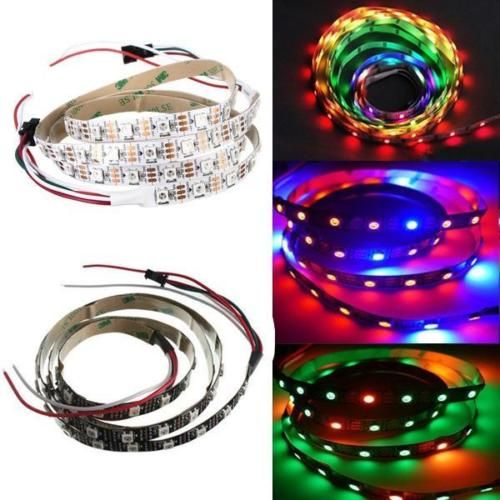 1m Ws2812b 5050 Rgb 60 Led Strip Light Dream Color Changing Dc 5v Power Led Strip Lighting Strip Lighting Led Strip