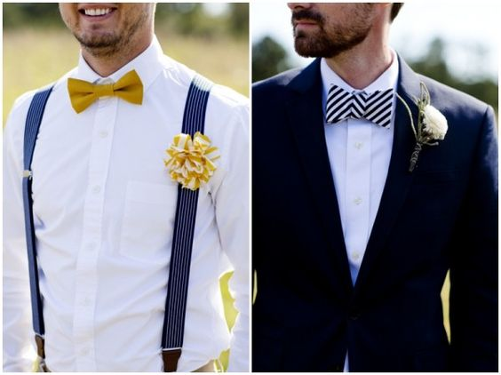 Suspenders Hipster groom and Bow ties on Pinterest