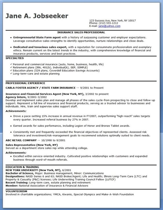 insurance manager resume sample resumecompanion resume insurance sales representative sample resume - Business Representative Sample Resume