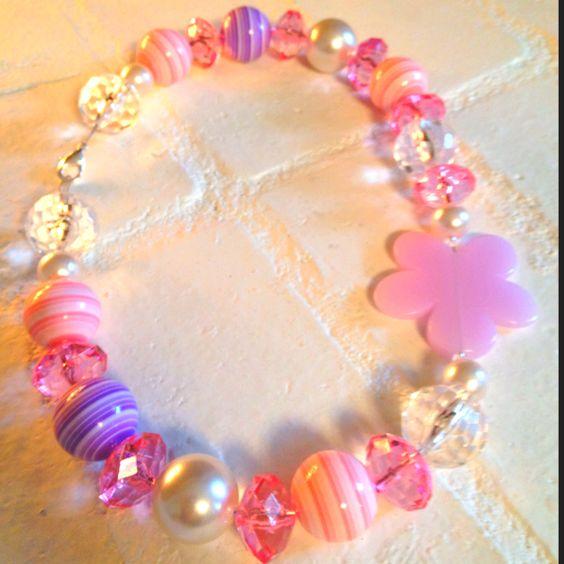 Gumdrop purple necklace.